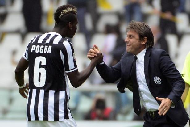 Conte từng khai phá rất nhiều tài năng trẻ, trong đó có Pogba (Ảnh: Bleacher Report)